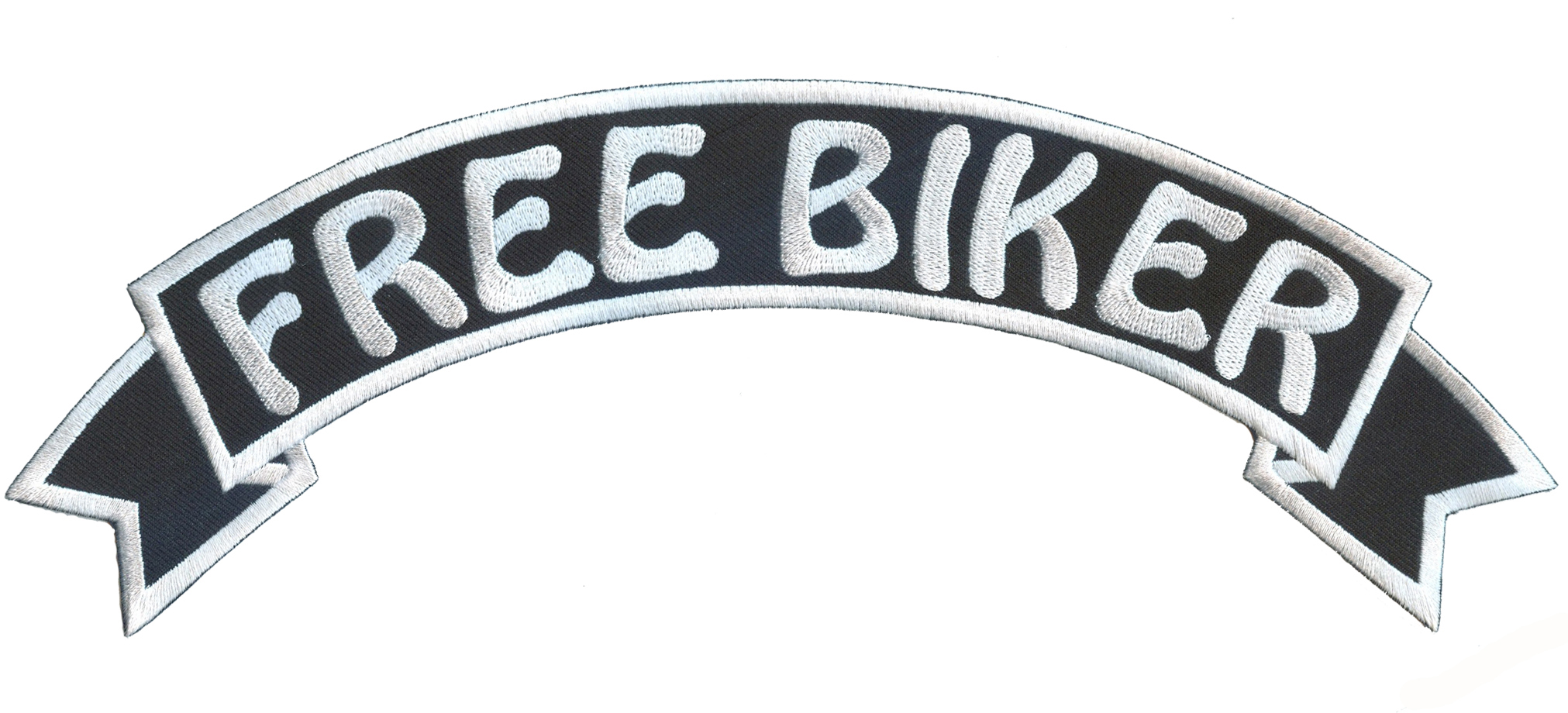 Freebiker free biker motorcycle patch - (embroidery, woven, badges, labels