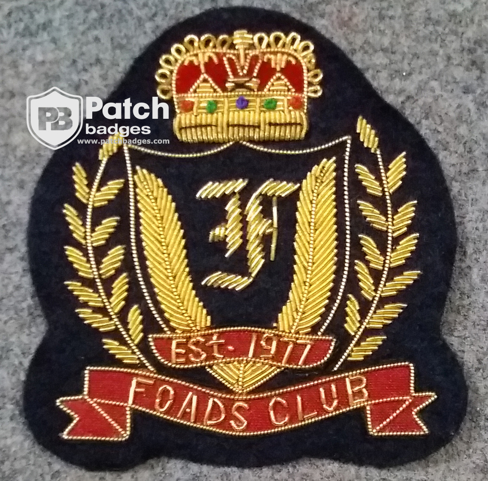 Hand Embroidery Bullion Wire Badge Foads Club - (Embroidery